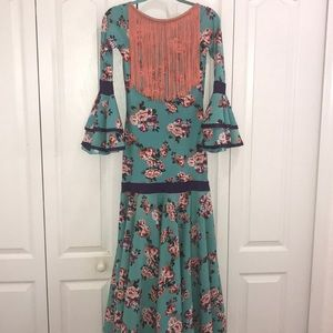 Other - Flamenco dress with fringe size 12/14